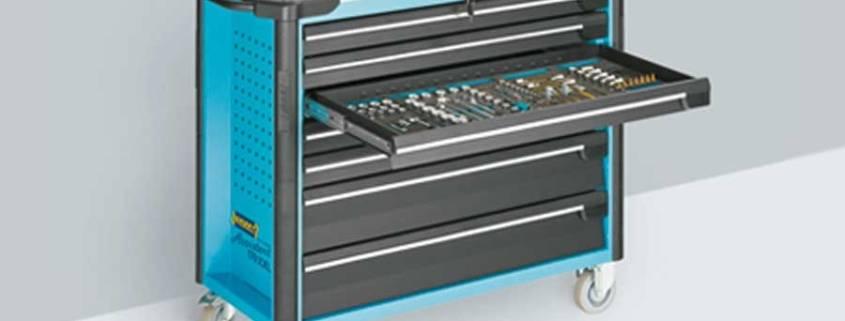 cassettiera porta utensili con guide Schock con autoschiusura e soft close