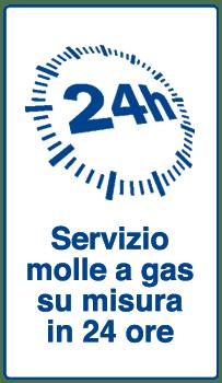 servizio molle a gas su misura